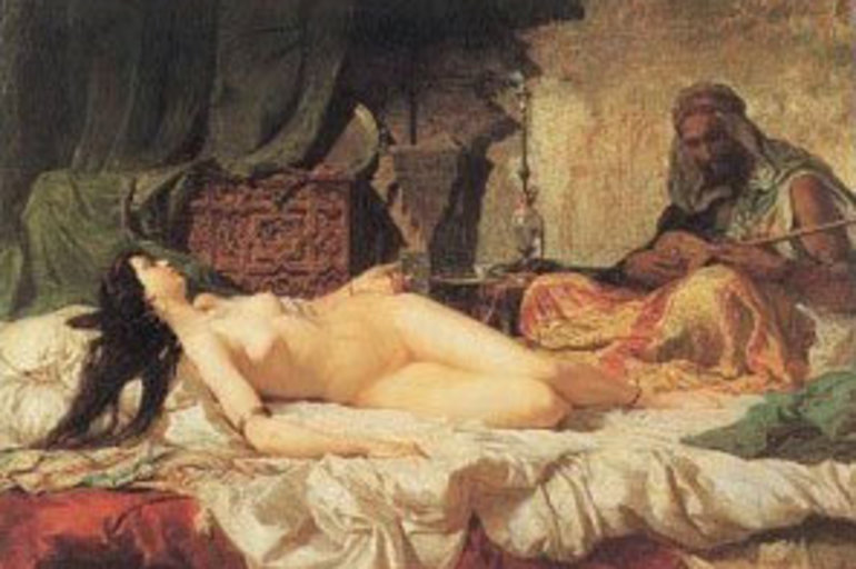 Mujer soltera con sexshop